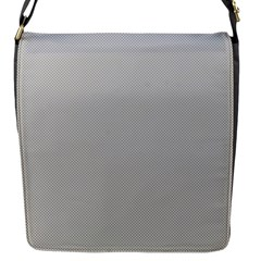 Grey and White simulated Carbon Fiber Flap Messenger Bag (S)