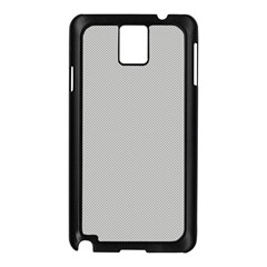 Grey and White simulated Carbon Fiber Samsung Galaxy Note 3 N9005 Case (Black)