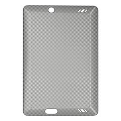 Grey and White simulated Carbon Fiber Amazon Kindle Fire HD (2013) Hardshell Case