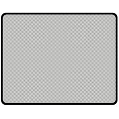 Grey and White simulated Carbon Fiber Double Sided Fleece Blanket (Medium)