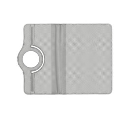 Grey and White simulated Carbon Fiber Kindle Fire HD (2013) Flip 360 Case