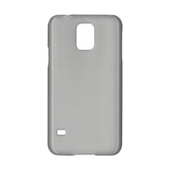 Grey and White simulated Carbon Fiber Samsung Galaxy S5 Hardshell Case