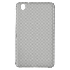 Grey and White simulated Carbon Fiber Samsung Galaxy Tab Pro 8.4 Hardshell Case