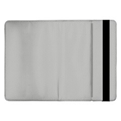 Grey and White simulated Carbon Fiber Samsung Galaxy Tab Pro 12.2  Flip Case