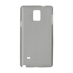 Grey and White simulated Carbon Fiber Samsung Galaxy Note 4 Hardshell Case