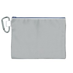 Grey and White simulated Carbon Fiber Canvas Cosmetic Bag (XL)