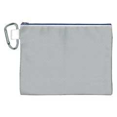 Grey and White simulated Carbon Fiber Canvas Cosmetic Bag (XXL)