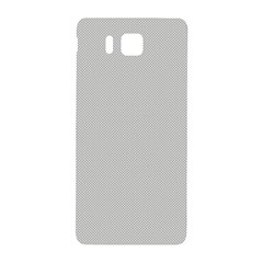 Grey and White simulated Carbon Fiber Samsung Galaxy Alpha Hardshell Back Case