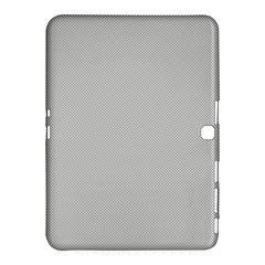 Grey and White simulated Carbon Fiber Samsung Galaxy Tab 4 (10.1 ) Hardshell Case