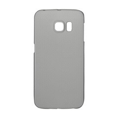 Grey and White simulated Carbon Fiber Galaxy S6 Edge