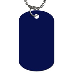 Classic Navy Blue Solid Color Dog Tag (one Side)