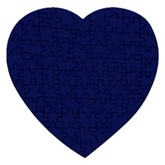 Classic Navy Blue Solid Color Jigsaw Puzzle (Heart)