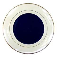 Classic Navy Blue Solid Color Porcelain Plates