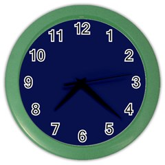 Classic Navy Blue Solid Color Color Wall Clocks