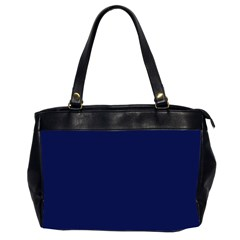 Classic Navy Blue Solid Color Office Handbags (2 Sides)