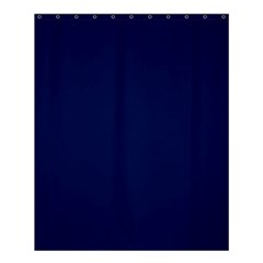 Classic Navy Blue Solid Color Shower Curtain 60  x 72  (Medium)
