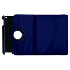 Classic Navy Blue Solid Color Apple iPad 2 Flip 360 Case