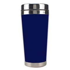 Classic Navy Blue Solid Color Stainless Steel Travel Tumblers