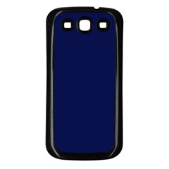 Classic Navy Blue Solid Color Samsung Galaxy S3 Back Case (Black)