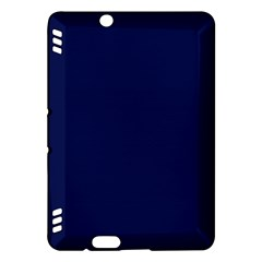 Classic Navy Blue Solid Color Kindle Fire HDX Hardshell Case