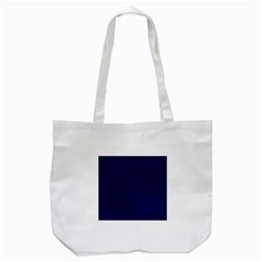Classic Navy Blue Solid Color Tote Bag (white)