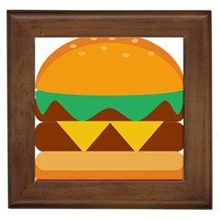 Hamburger Bread Food Cheese Framed Tiles