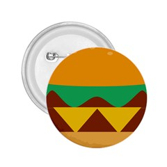 Hamburger Bread Food Cheese 2.25  Buttons