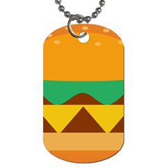 Hamburger Bread Food Cheese Dog Tag (one Side)