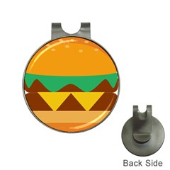 Hamburger Bread Food Cheese Hat Clips With Golf Markers