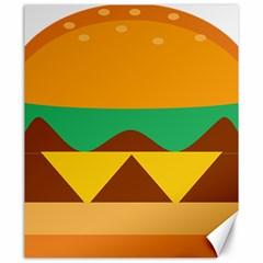 Hamburger Bread Food Cheese Canvas 20  X 24