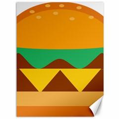 Hamburger Bread Food Cheese Canvas 36  x 48