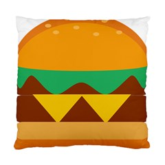 Hamburger Bread Food Cheese Standard Cushion Case (two Sides)