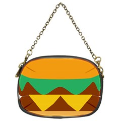 Hamburger Bread Food Cheese Chain Purses (two Sides)
