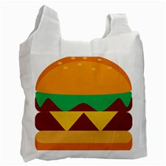 Hamburger Bread Food Cheese Recycle Bag (two Side)
