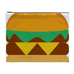 Hamburger Bread Food Cheese Cosmetic Bag (xl)