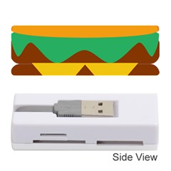 Hamburger Bread Food Cheese Memory Card Reader (stick)