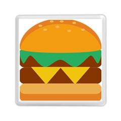 Hamburger Bread Food Cheese Memory Card Reader (square)