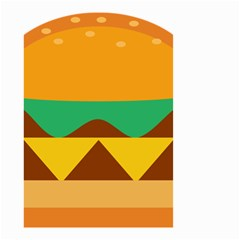Hamburger Bread Food Cheese Small Garden Flag (Two Sides)