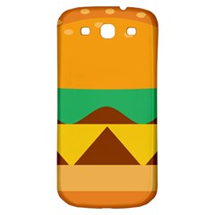 Hamburger Bread Food Cheese Samsung Galaxy S3 S III Classic Hardshell Back Case