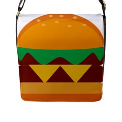 Hamburger Bread Food Cheese Flap Messenger Bag (L)