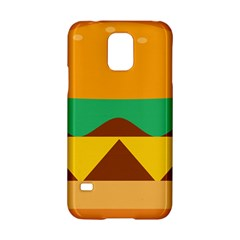 Hamburger Bread Food Cheese Samsung Galaxy S5 Hardshell Case