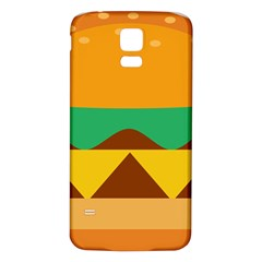 Hamburger Bread Food Cheese Samsung Galaxy S5 Back Case (White)