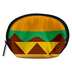 Hamburger Bread Food Cheese Accessory Pouches (Medium)