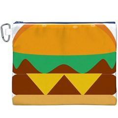 Hamburger Bread Food Cheese Canvas Cosmetic Bag (xxxl)