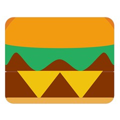 Hamburger Bread Food Cheese Double Sided Flano Blanket (large)
