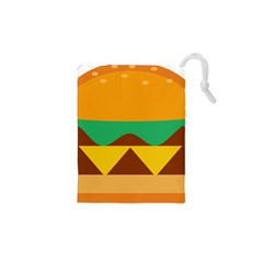 Hamburger Bread Food Cheese Drawstring Pouches (xs)