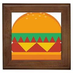 Burger Bread Food Cheese Vegetable Framed Tiles