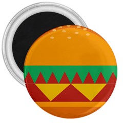 Burger Bread Food Cheese Vegetable 3  Magnets