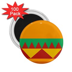 Burger Bread Food Cheese Vegetable 2 25  Magnets (100 Pack)