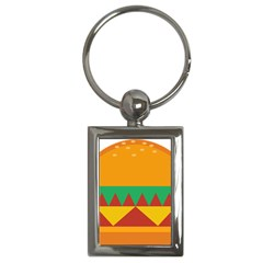 Burger Bread Food Cheese Vegetable Key Chains (rectangle)
